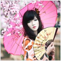 Eventails et ombrelles asiatiques